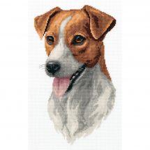 Kit Punto Croce - Panna - Jack Russel terrier