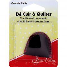 accessorio patchwork, - Sew Easy - Ditale in pelle per quilting- Taglia grande