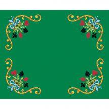 Kit tappeto giochi da ricamo - Luc Créations - Carte fiorite