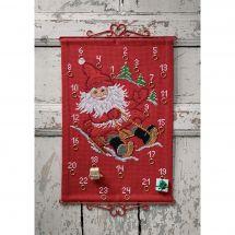 Kit Punto Croce - Permin - Calendario dell'Avvento - La slitta di Babbo Natale