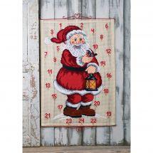 Kit Punto Croce - Permin - Calendario dell'Avvento - Babbo Natale e l'uccello