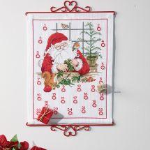 Kit Punto Croce - Permin - Calendario dell'Avvento - L'officina di Babbo Natale