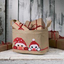 Kit tappeto in abete - Permin - Cestino - Lattine di Natale