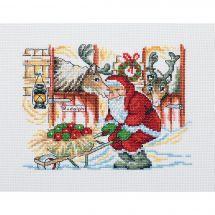 Kit Punto Croce - Permin - Babbo Natale e le sue renne