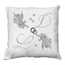 Kit cuscino da ricamo - La planète mauve - Cupido Angelot