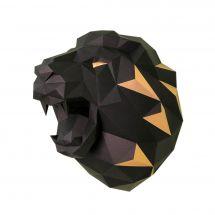 Puzzle 3D - Wizardi - Testa di leone nera e oro