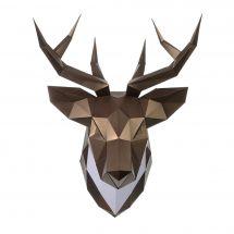 Puzzle 3D - Wizardi - Testa di cervo in bronzo