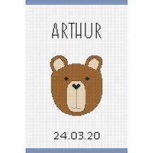 Kit per la copertina del libro a ricamo - Princesse - orsetto