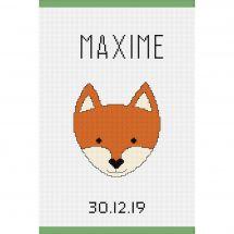 Kit per la copertina del libro a ricamo - Princesse - Piccola volpe