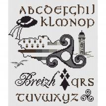 Kit Punto Croce - Marie Coeur - ABC Triskell