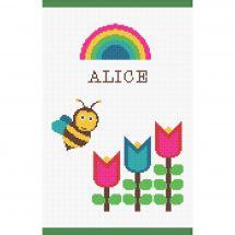 Kit per la copertina del libro a ricamo - Princesse - Ape