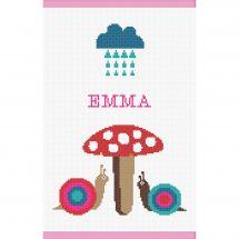 Kit per la copertina del libro a ricamo - Princesse - Lumache