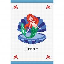 Kit per la copertina del libro a ricamo - Princesse - Mare - La sirena