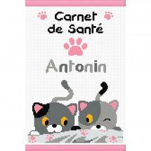 Kit per la copertina del libro a ricamo - Princesse - Piccoli gatti
