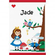 Kit per la copertina del libro a ricamo - Princesse - Nel paese delle meraviglie