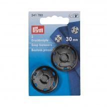 Bottoni a pressione - Prym - 2 bottoni a pressione per cucire neri - 30 mm