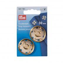 Bottoni a pressione - Prym - 2 bottoni a pressione da cucire color oro - 30 mm
