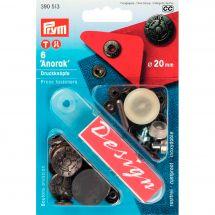 Bottoni a pressione - Prym - Kit bottoni a pressione Anorak - 20 mm