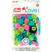 Bottoni a pressione - Prym - 21 boccioli di fiori - 13,6 mm