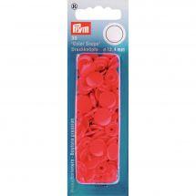 Bottoni a pressione - Prym - 30 bottoni pressioni a ribadire rosso - 12.4 mm
