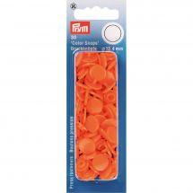Bottoni a pressione - Prym - 30 bottoni pressioni a ribadire arancione - 12.4 mm