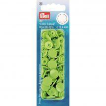 Bottoni a pressione - Prym - 30 bottoni pressioni a ribadire verde mela - 12.4 mm