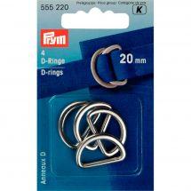 Accessorio per la borsa - Prym - Anelli in D - 20 mm argento