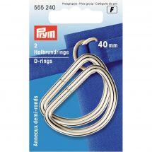 Accessorio per la borsa - Prym - Anelli in D - 40 mm argento