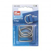 Accessorio per la borsa - Prym - Anelli a D - 25 mm argento scuro