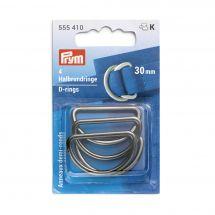 Accessorio per la borsa - Prym - Anelli a D - 30 mm argento scuro