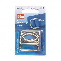 Accessorio per la borsa - Prym - Anelli a D - 30 mm oro
