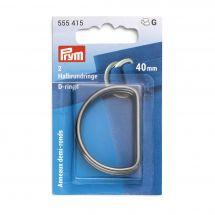 Accessorio per la borsa - Prym - Anelli a D - 40 mm argento scuro