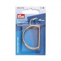 Accessorio per la borsa - Prym - Anneaux D - 40 mm argent foncé