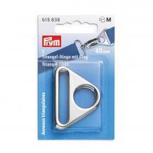 Accessorio per la borsa - Prym - Anelli triangolari colore argento - 40 mm
