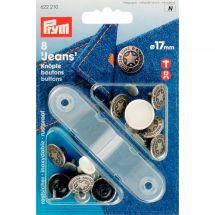 Bottoni di jeans - Prym - 8 bottoni argento - 17 mm