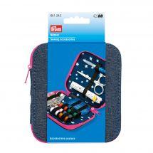 Kit da cucito - Prym - Kit da viaggio - blu jeans/rosa