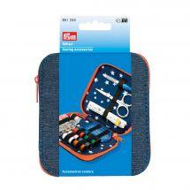Kit da cucito - Prym - Kit da viaggio - blu jeans/arancione