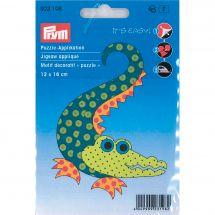 Etichetta ricamata - Prym - Etichetta decorativa puzzle
