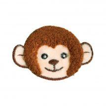 Termoadesiva - Prym - Testa di scimmia beige/marrone