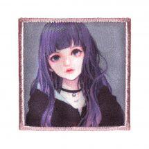 Termoadesiva - Prym - Etichetta K-Pop - Ragazza con i capelli viola