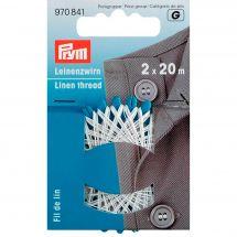 Filo da cucire - Prym - Filo di lino bianco - 2 x 20 m