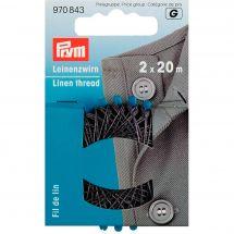 Filo da cucire - Prym - Filo di lino grigio - 2 x 20 m