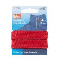 Rinforzi Ferro su ferro - Prym - Cavo per felpa con cappuccio 17 mm rosso