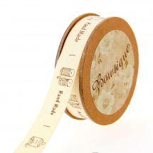 Nastro di cotone su una bobina - Bowtique - Cotone fatto a mano - 15 mm x 5 m