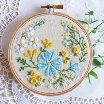 Kit per ricamo a tamburo - Tamar Nahir Yanai - Giardino fiorito