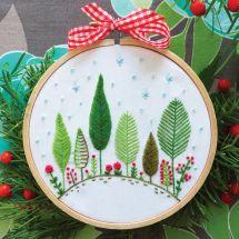 Kit per ricamo a tamburo - Tamar Nahir Yanai - Foresta di Natale