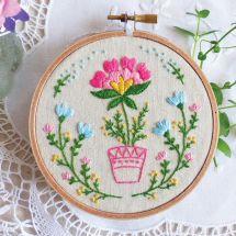 Kit per ricamo a tamburo - Tamar Nahir Yanai - Vaso di fiori