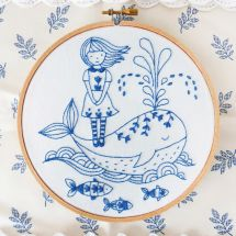 Kit per ricamo a tamburo - Tamar Nahir Yanai - Le fIlle e la balena