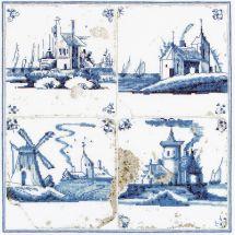 Kit Punto Croce - Théa Gouverneur - Villaggio in pittura Delft