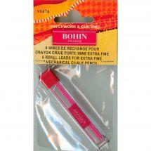 Matita di marchiatura - Bohin - Punte ricariche rose